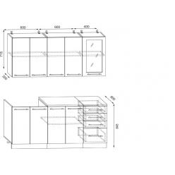 КУХНЯ корпус 1,6 м без фасадов(без дверей)