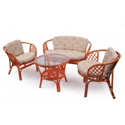 Набор для отдыха Bahama с подушками  (Диван, 2 кресла, журнальный столик)